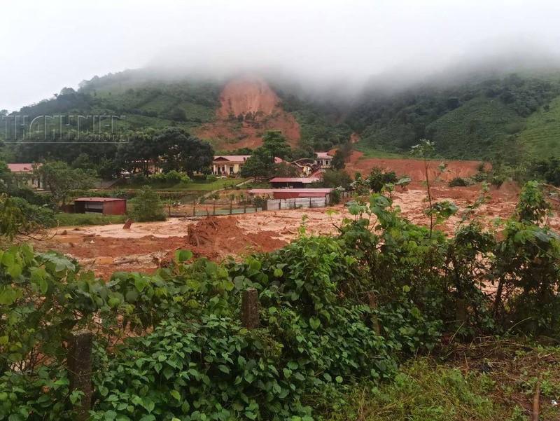 Hiện trường sạt lở đất ở Hướng Phùng Hướng Hóa